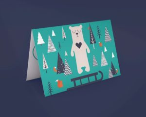 Beary Christmas Card