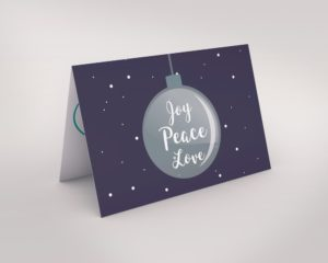 Joy Peace Love Card